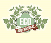 Vector clipart: Eco labels with retro vintage design