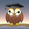 Vector clipart: funny owl