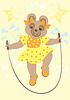 Vector clipart: Bear in yellow dress