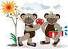 Vector clipart: Bear is declaration of love