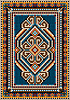 Vector clipart: The ancient oriental design with frame for carpet