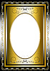 Vintage frame with gold and silver items