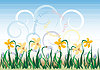 Vector clipart: Abstract background  with  wildflowers