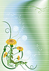 Vector clipart: Banner with dandelion