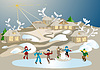 Vector clipart: Winter games  to play