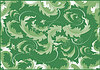 Vector clipart: Abstract green leaf fantasy background