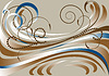 Vector clipart: Banner with brownish stripes