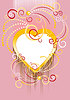 Background with heart   Stock Vector Graphics