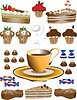 Vector clipart: Coffee with dessert