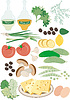 Vector clipart: Wholesome food Salad