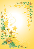 Vector clipart: Corner frame of yellow flower