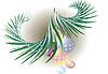 """Векторный клипарт: Новый год \\ """"с деревом"""