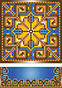Vector clipart: Ornament for the blue carpet
