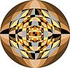 Векторный клипарт: Мозаика шаблон для фона