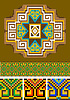 Vector clipart: Rug, piece of ornament
