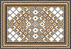 Vector clipart: Variegate geometric pattern for rug