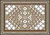Векторный клипарт: Разнообразить геометрический узор на ковре