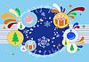 Векторный клипарт: Открытка к зимним праздникам.
