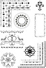 Vector clipart: Decorative border, ornamental frames