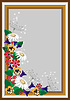 Vector clipart: Frame with wild flowers