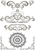 Vector clipart: Decorative ornament border,frame
