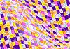 Векторный клипарт: Пятнистый фоне разноцветных квадратиков