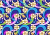 Векторный клипарт: Желтые цветы на голубом фоне