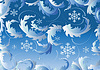 Vector clipart: Background with snowflake