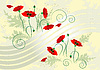 Vector clipart: Banner with flower poppy