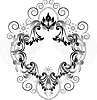 Vector clipart: Vintage ornament for frame