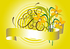 Spring bouquet of  daffodil   Stock Vector Graphics
