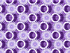 Purple flowers on purple background.    Stock Vector Graphics
