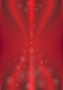 Transparent circles on red background. B