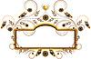 Элегантная рамка с сердцем и украшенные цветами и