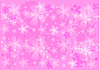 Pink  background with transparent  flowers.   Stock Foto