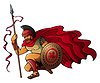 Vector clipart: Greek warrior