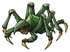Vector clipart: Scary spider
