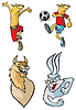 Vector clipart: Cartoon animals
