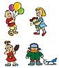 Vector clipart: Children playing