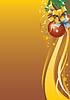 Векторный клипарт: новогодний фон для праздничной открытки