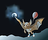 Vector clipart: Little vampire bat