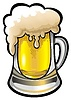 Vector clipart: Glass of beer