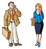 Vector clipart: Business connection
