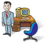 Vector clipart: Office clerk