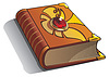 Vector clipart: Ancient book with gem on cover