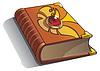 Векторный клипарт: Древняя книга с жемчужиной на крышке