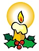 Vector clipart: Christmas candle