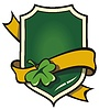 Vector clipart: Signboard with ribbon in Irish style
