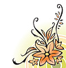 Vector clipart: Ornamental corner with flowers