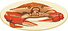 Vector clipart: Crab on the plate